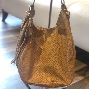 Authentic Jenrigo genuine Italian leather hobo bag